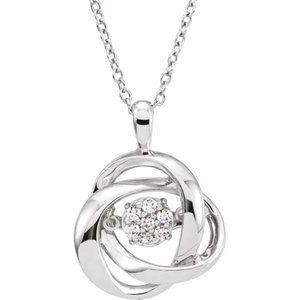 "Sterling Silver 1/10 CTW Diamond Mystara® 18"" Necklace"