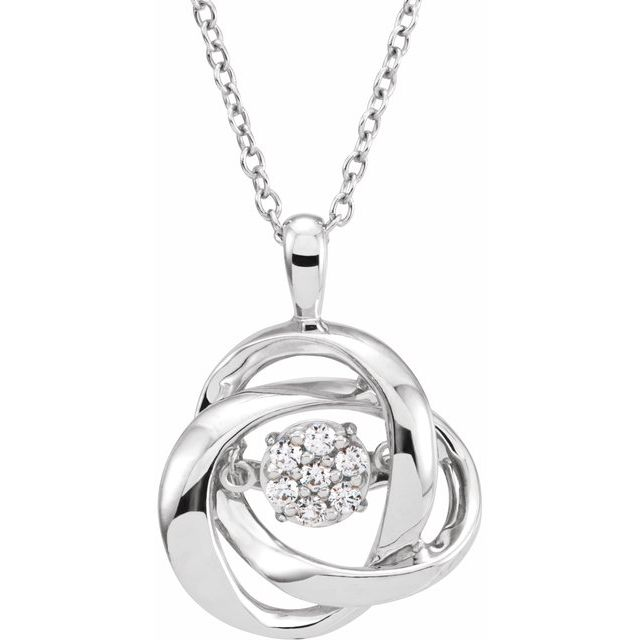 Sterling Silver 1/10 CTW Diamond Mystara® 18