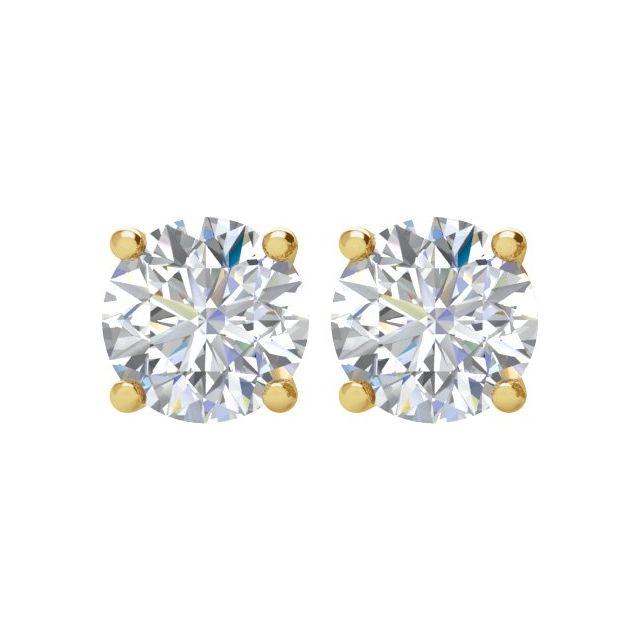 14K Yellow 1/2 CTW Diamond Stud Earrings