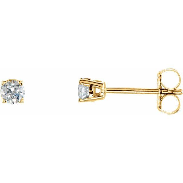 14K Yellow 1/10 CTW Diamond Stud Single Earring