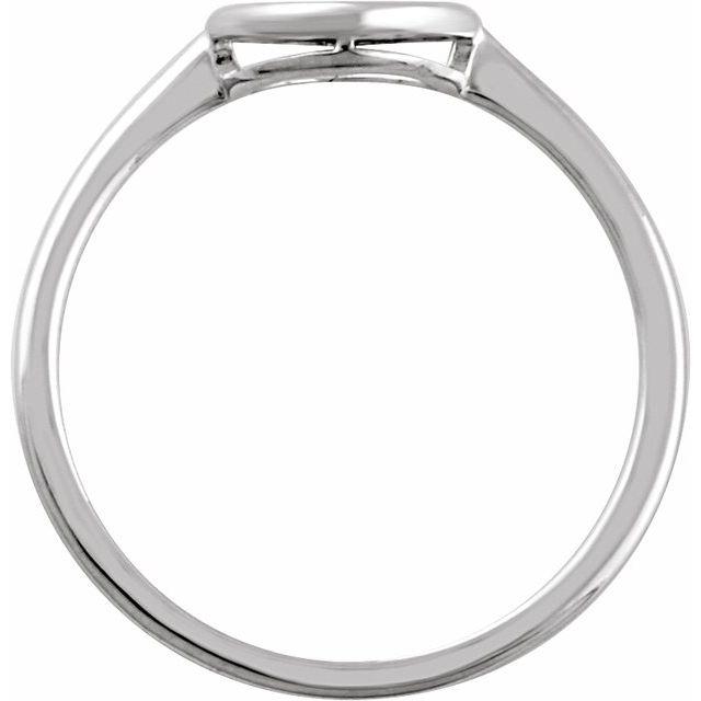 14K White 8 mm Circle Ring