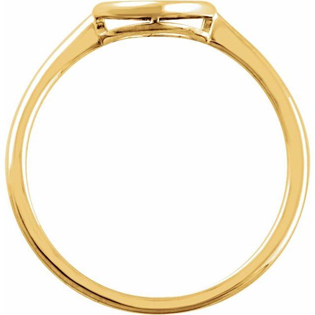 14K Yellow 8 mm Circle Ring