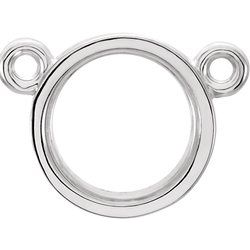 Round Bezel Center Mounting or Necklace