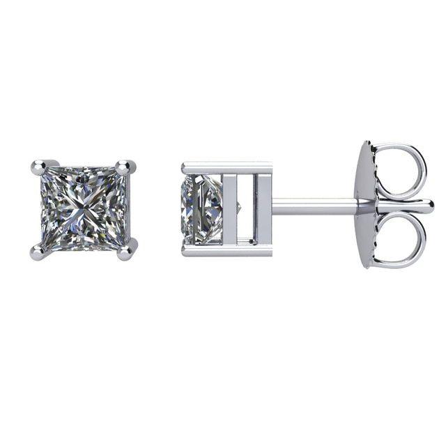 14K White 3/4 CTW Natural Diamond Stud Earrings