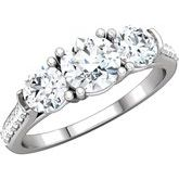 Three-Stone Accented Engagement Ring or Band