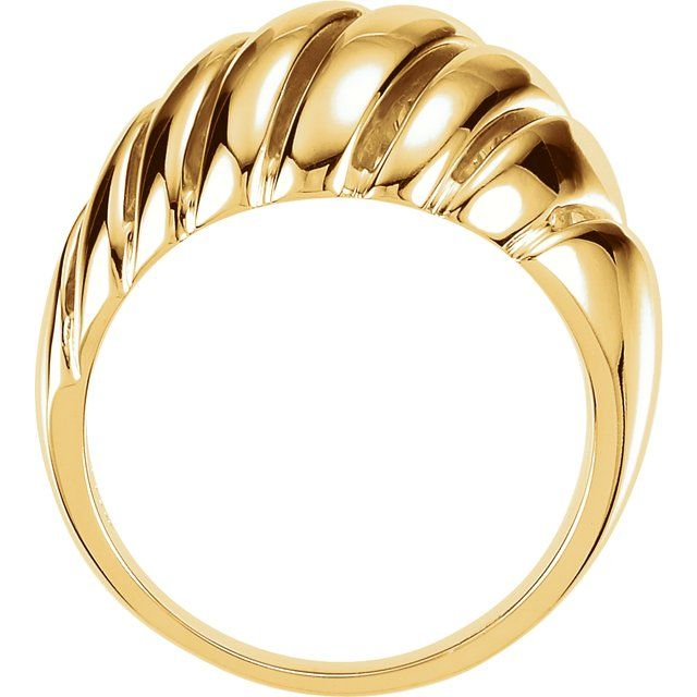 14K Yellow Dome Ring