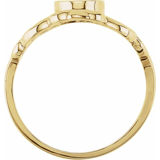 14K Yellow 11x6.5 mm Oval Signet Ring