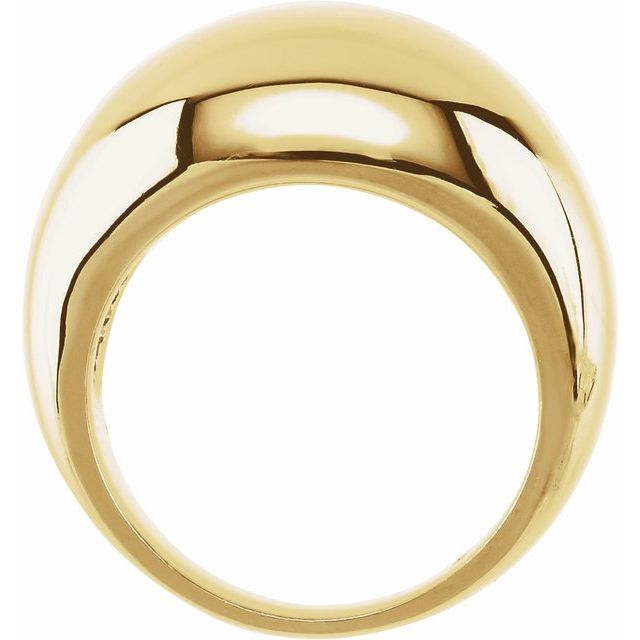 14K Yellow 12 mm Dome Ring