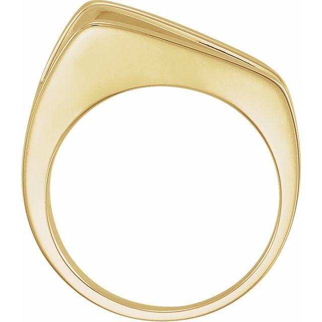 14K Yellow Negative Space Ring