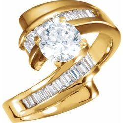 Accented Engagement Peg Remount