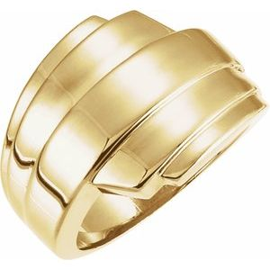 14K Yellow Layered Ring