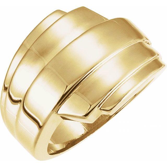 14K Yellow Layered Ring