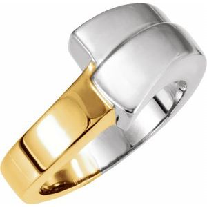 14K White/Yellow Fashion Ring