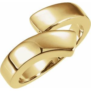 14K Yellow Bypass Ring