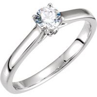 Continuum Sterling Silver 1/4 CTW Diamond Engagement Ring with Accent