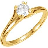 Split-Prong Solitaire Engagement Ring
