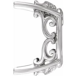 Oval Vintage Scroll Setting® for Earring Assembly