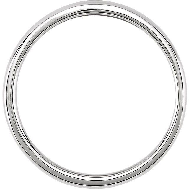 14K 2.5mm Polished White Band