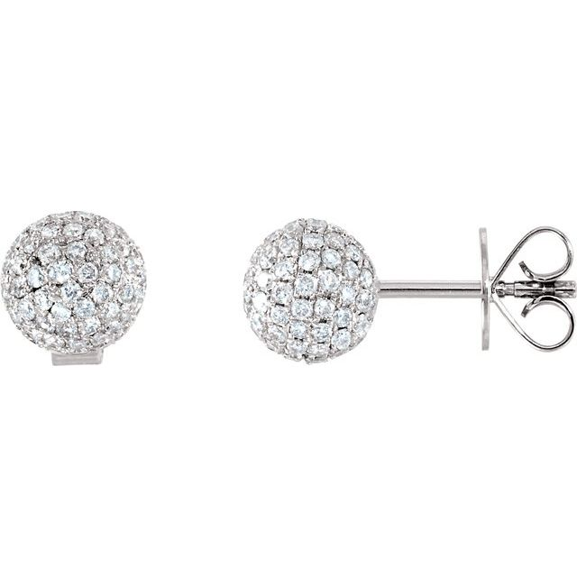 Pavé Ball Stud Earrings