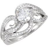 Melee Accented Engagement Ring or Band