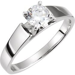 Cathedral Engagement Ring alebo Band Mounting