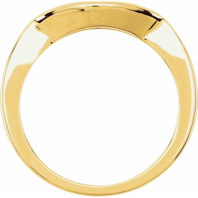 14K Yellow Matching Band for 6.5 mm Round Ring