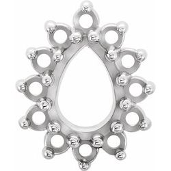 Pear 13-Stone Cluster Top