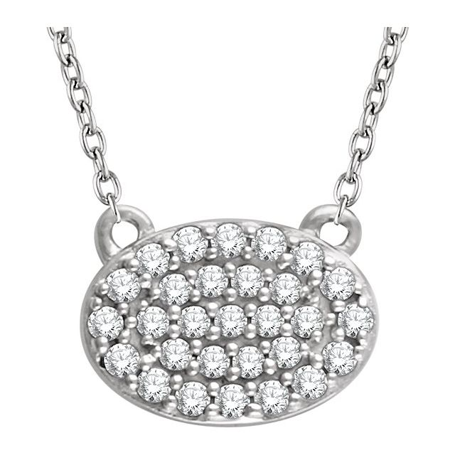 14K White 1/5 CTW Natural Diamond Cluster 16-18