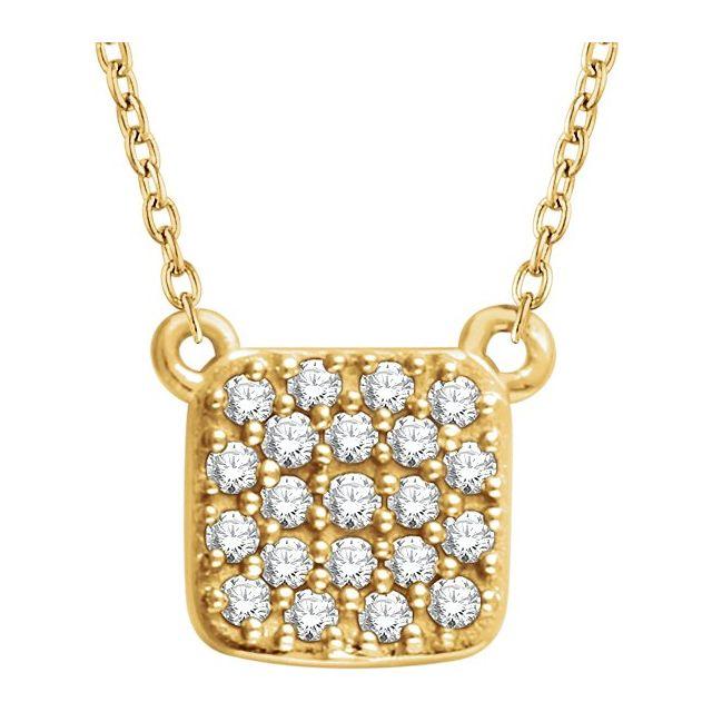 14K Yellow 1/6 CTW Natural Diamond Cluster 16-18