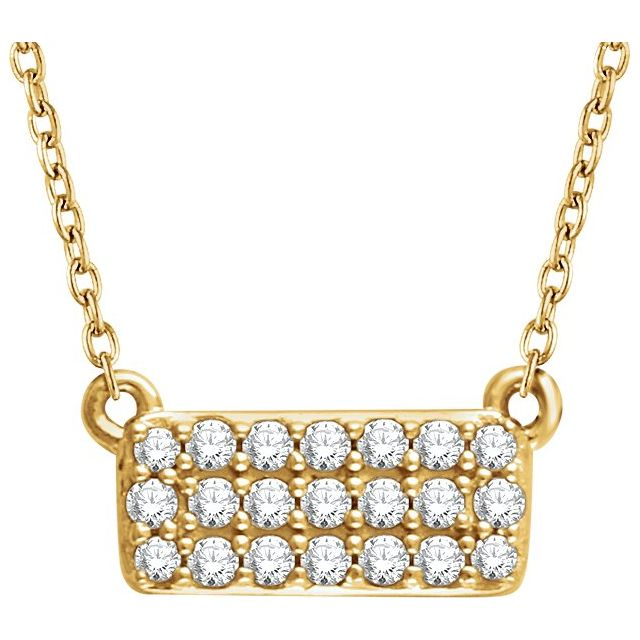 14K Yellow 1/6 CTW Diamond Cluster 16-18