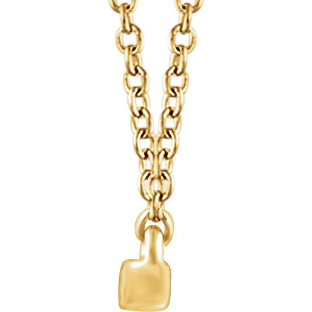 14K Yellow 1/3 CTW Diamond Bar 16-18