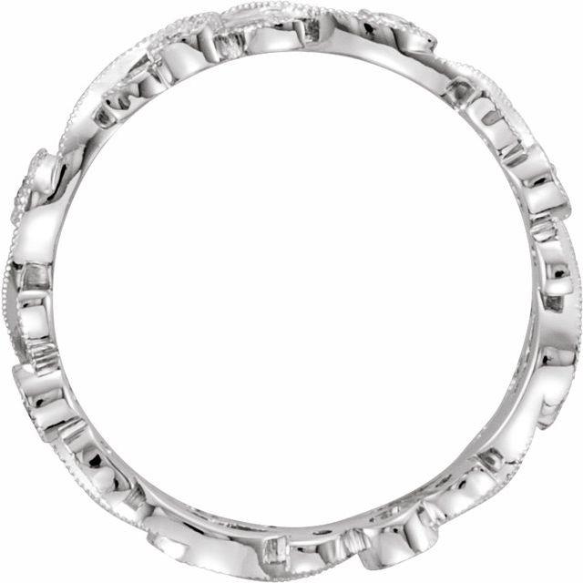 14K White 1/4 CTW Diamond Eternity Band Size 5.5