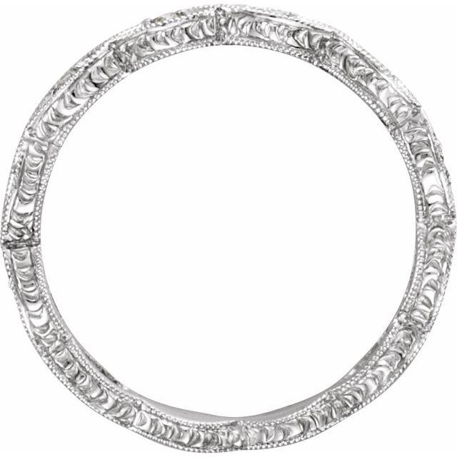14K White 1/8 CTW Diamond Anniversary Band Size 5