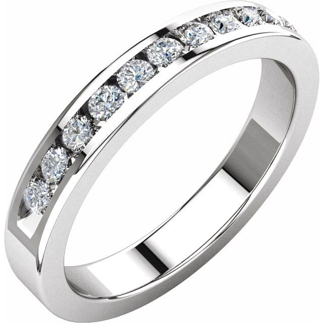 Platinum 1/3 CTW Diamond Anniversary Band Size 6