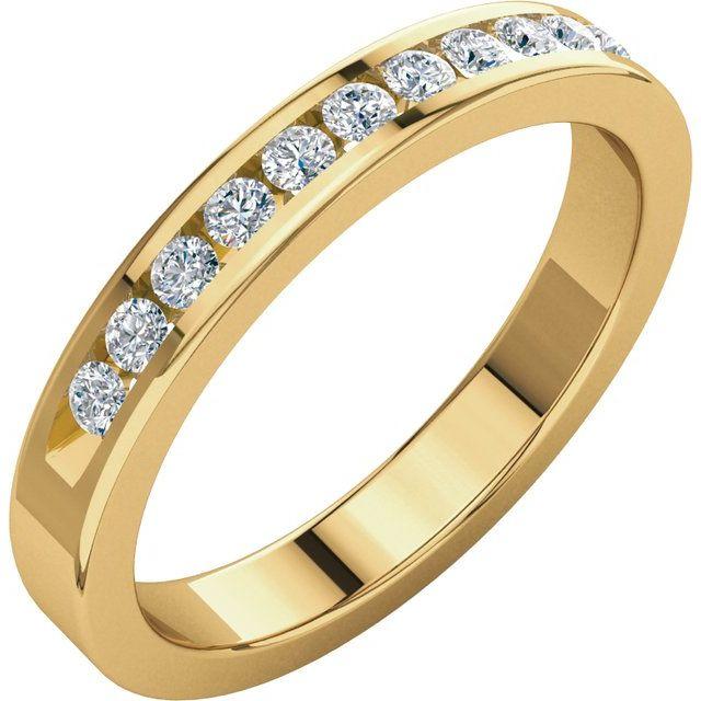 14K Yellow 1/4 CTW Diamond Anniversary Band Size 7