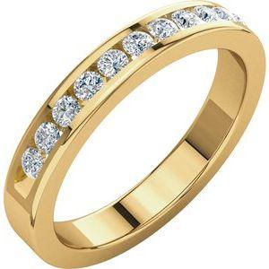 14K Yellow 1/3 CTW Diamond Anniversary Band Size 8