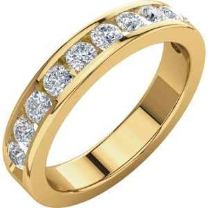 14K Yellow 3/4 CTW Diamond Anniversary Band Size 6