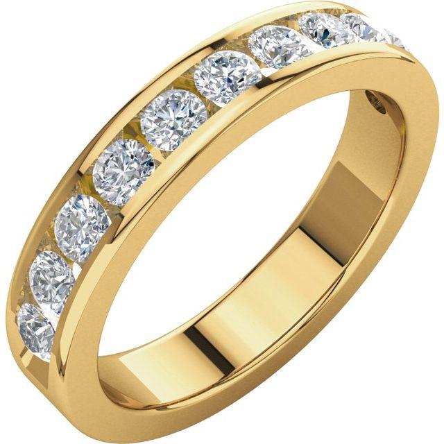 14K Yellow 3/4 CTW Diamond Anniversary Band Size 8