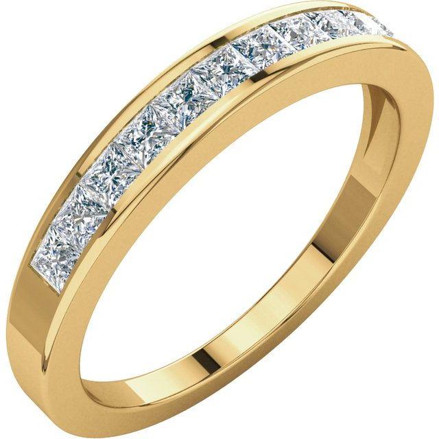 14K yellow 1/2 CTW Diamond Anniversary Band Size 6.5