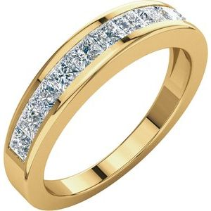 14K Yellow 1 CTW Diamond Anniversary Band Size 6