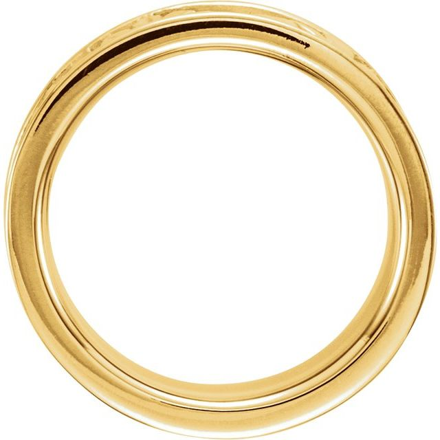 14K Yellow 8.25 mm Floral Band