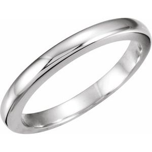 18K White #7 Tapered Bombé Solstice Solitaire® Matching Band for .40-.65 CT