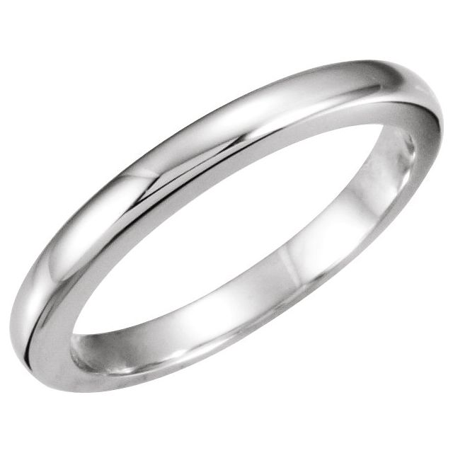 Platinum #13 Tapered Bombé Solstice Solitaire® Matching Band for 1.5-2 CT