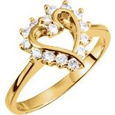 Accented Heart Ring Mounting