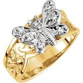 Two-Tone Butterfly Ring