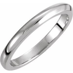 14K White 3 mm Solstice Solitaire® Tapered Knife Edge Matching Band 16