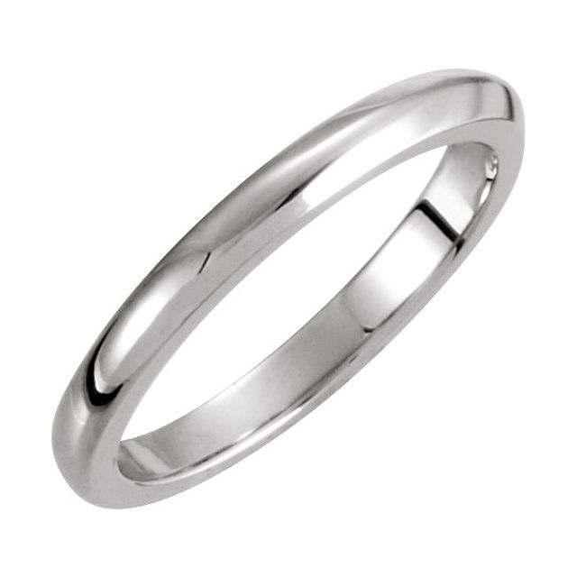 14K White 2.25 mm Solstice Solitaire® Tapered Knife Edge Matching Band 7