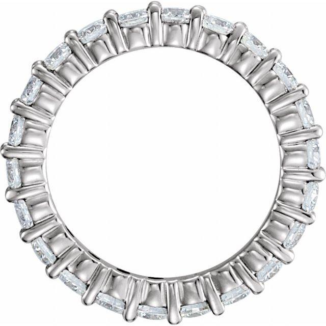 Platinum 1 1/2 CTW Diamond Eternity Band Size 6