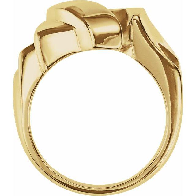 14K Yellow Freeform Remount Ring