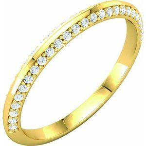 14K Yellow 1/5 CTW Diamond Band